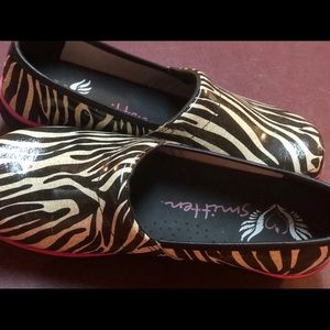 Zebra print nurse shoes